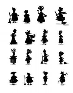 befana_silhouette_studies
