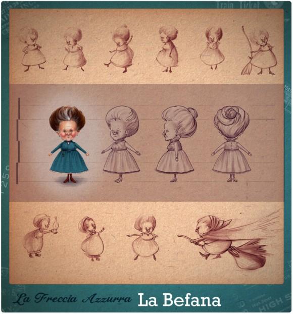 Befana character design